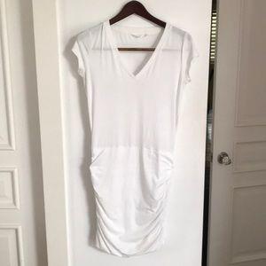 Athleta•Soft/Stretchy White Cotton Dress Sz:XS